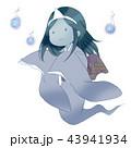 幽霊 イラスト 女性 着物 昔話 和服 人魂 こわい かわいい ホラー 43941934