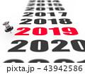 2018 2019 アブストラクトのイラスト 43942586