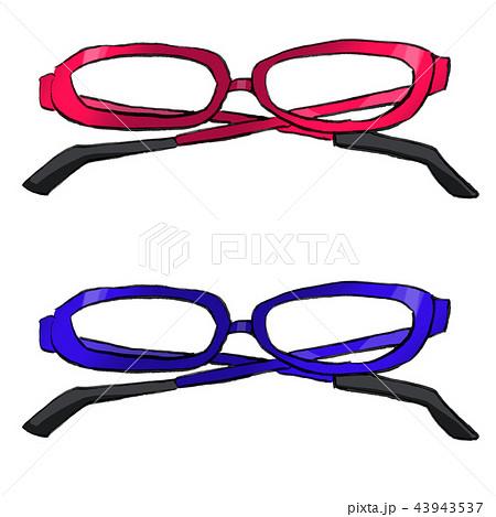 眼鏡 めがね メガネ イラストのイラスト素材 43943537 Pixta