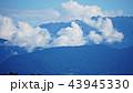 Mountain peak range landscape. Green mountain range view. Mountain peak blue sky white clouds 43945330