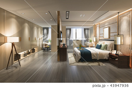 luxury modern bedroom suite tv with wardrobe 43947936