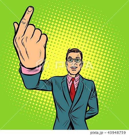 man index finger up 43948759