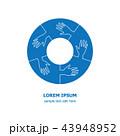 Five organization cooperation united icon logo 43948952