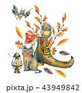 水彩画 ハロウィン 休日のイラスト 43949842