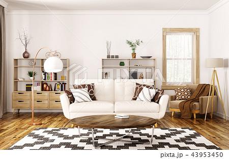 Interior of modern living room 3d rendering 43953450