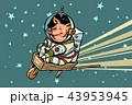 宇宙飛行士 ぶた ブタのイラスト 43953945
