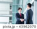握手 ビジネスマン ビジネスの写真 43962070
