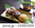和菓子 おはぎ 桜餅の写真 43965900