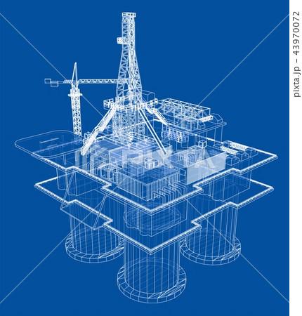 Offshore oil rig drilling platform concept 43970072