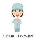 作業員 ベクター 女性のイラスト 43970409