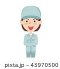 作業員 ベクター 女性のイラスト 43970500