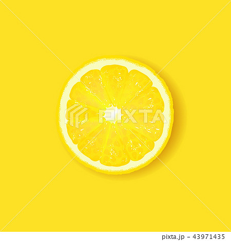 Lemon Isolated Yellow Background 43971435