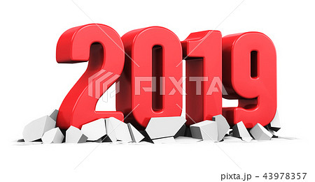 New Year 2019 holiday celebration concept 43978357