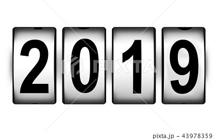 New Year 2019 holiday celebration concept 43978359