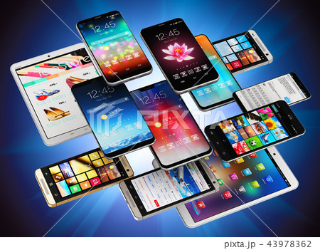 Smartphones, mobile phones and tablet computers 43978362