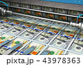 ドル 印刷 プリントのイラスト 43978363