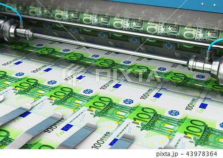 Printing 100 Euro money banknotes 43978364