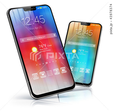 Modern touchscreen smartphones 43978374