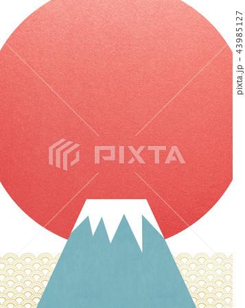 背景-富士山-日の出 43985127