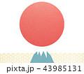 背景-富士山-日の出 43985131