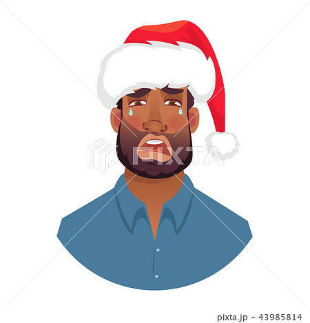 portrait of african man in hat 43985814