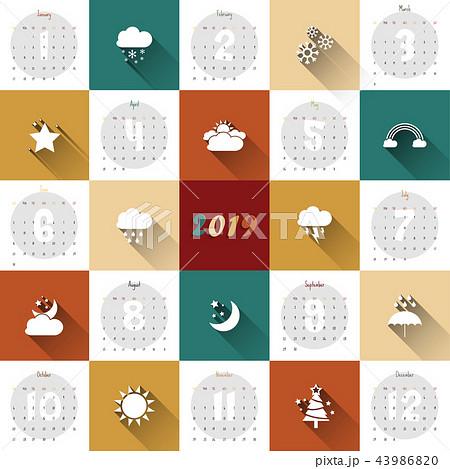 2019 Modern calendar template .Vector/illustration 43986820