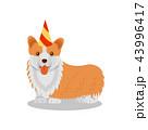 わんこ 犬 イラストのイラスト 43996417