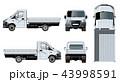 トラック テンプレート 白背景のイラスト 43998591