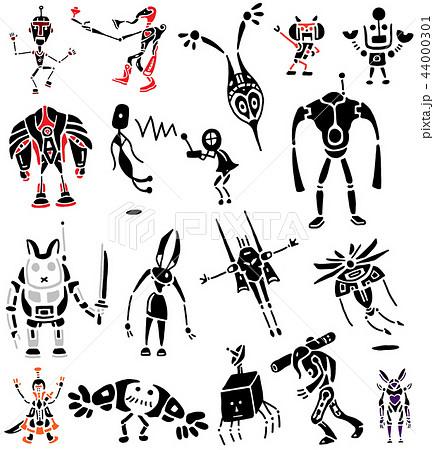 影絵 ロボット トライバル 鎧 武器のイラスト素材 [44000301] - PIXTA