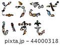 年賀状素材 鳥文字 ひらがな ございます 44000318
