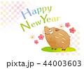 年賀状 亥 猪のイラスト 44003603