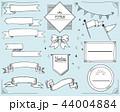 リボン フレーム 枠のイラスト 44004884