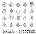 アイコン 並ぶ 罫のイラスト 44007883
