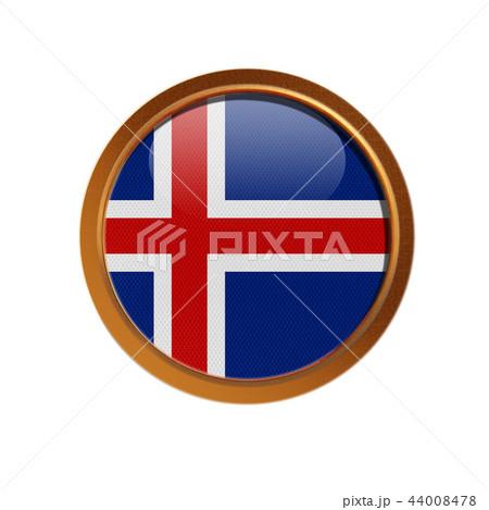 Island flag in the golden frame  44008478