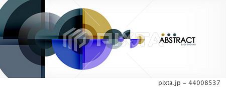 Vector fantastic circle modern geometric background template 44008537