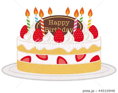 苺のケーキのイラスト素材 44010946 Pixta