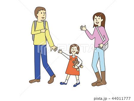 家族のイラスト2 カラー 44011777