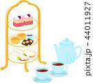 アフタヌーンティー 菓子 紅茶のイラスト 44011927
