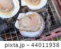 帆立 焼く バーベキューの写真 44011938