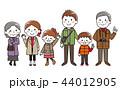 家族 ベクター お出掛けのイラスト 44012905