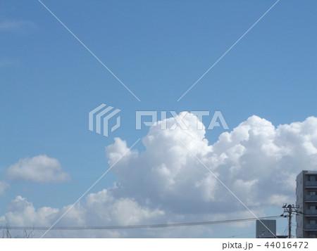 稲毛海岸の青空と白い雲 44016472