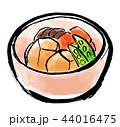 筆描き 野菜 食物 煮物 44016475