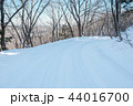 雪道 雪 冬の写真 44016700