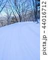 雪道 雪 冬の写真 44016712