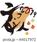 年賀状 2019 亥のイラスト 44017972