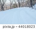 雪道 雪 冬の写真 44018023