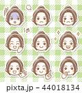 女性 女の子 表情のイラスト 44018134