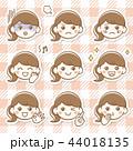 女性 女の子 表情のイラスト 44018135