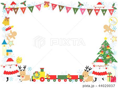 クリスマスのフレームのイラスト素材 44020037 Pixta