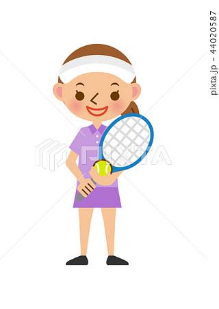 テニス 女性 44020587